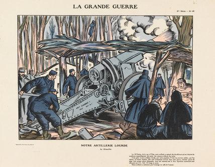 Our heavy artillery. The Rimailho, La Grande Guerre
