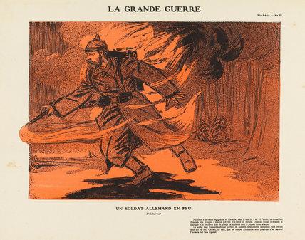 A German soldier on fire, La Grande Guerre