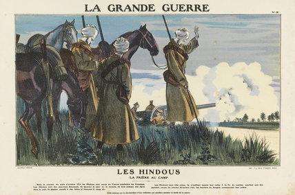 Hindus. Prayer at the camp, La Grande Guerre