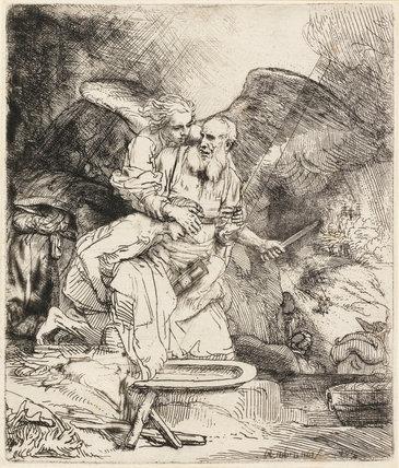 Abraham's Sacrifice, by Rembrandt