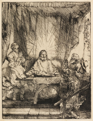 Christ at Emmaus, by Rembrandt