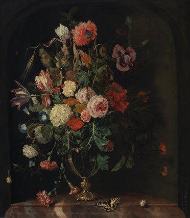 Vase of flowers, by Hendrik de Fromantiou