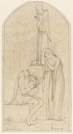 Illustration to Coleridge's poem 'Genevieve', by Rossetti