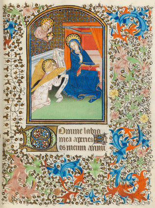 The Annunciation Besancon Book Of Hours By French School