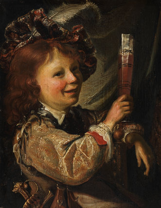 A boy drinking, by Cornelis Picolet
