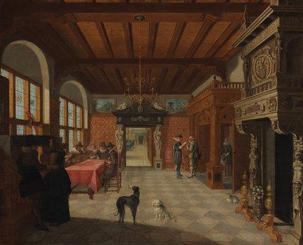 Interior of a hall, by Nicolaes de Gyselaer
