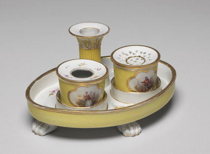 Porcelain writing set, Furstenberg factory