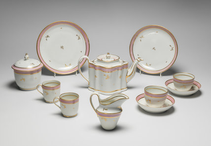 Tea service, New Hall Porcelain
