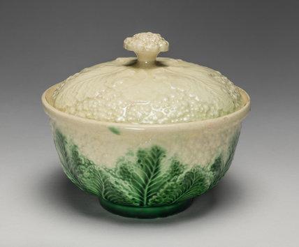 Staffordshire cauliflower sugar bowl