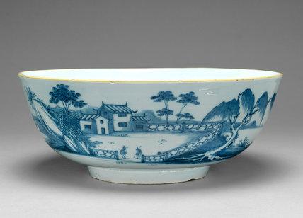 English Delftware punch bowl