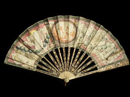 Trompe l'oeil folding fan, by Francesco Stagni