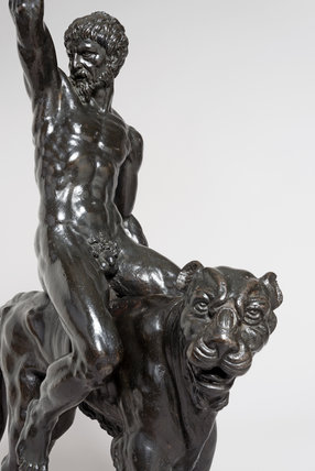 Nude bacchants riding panthers, by Michelangelo (attrib)