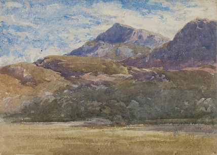 Mountain scene, by David Cox, the elder