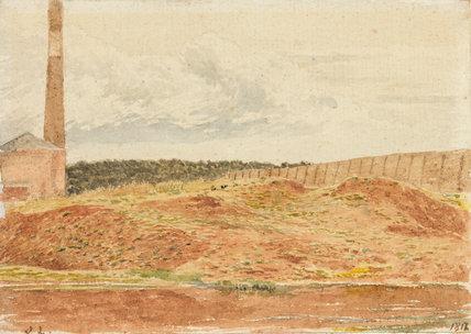 Study of a brick kiln, Kensington Gravel Pit, by Linnell