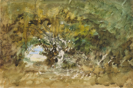 Clearing in the wood, by Diaz de la Pena
