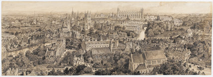 Cambridge from Castle Hill, by Henry Brewer