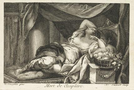 The death of Cleopatra, by Nicolas Edelinck