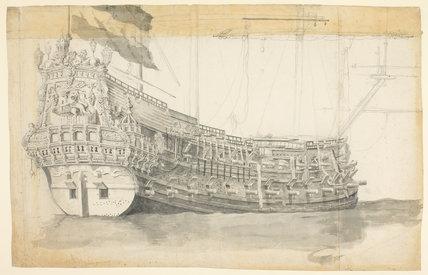 Study of a Dutch ship, by Willem van de Velde I