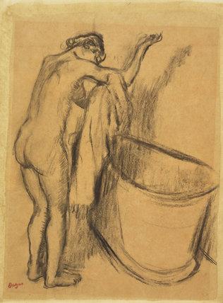 Apres le Bain, by Degas