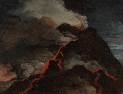 Vesuvius in eruption, by Anicet Charles Gabriel Lemonnier