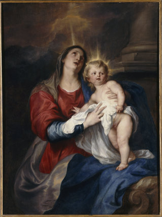 The Virgin and Child, by van Dyck