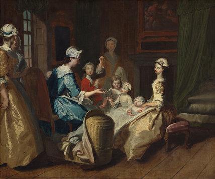 Pamela tells a nursery tale, by Joseph Highmore