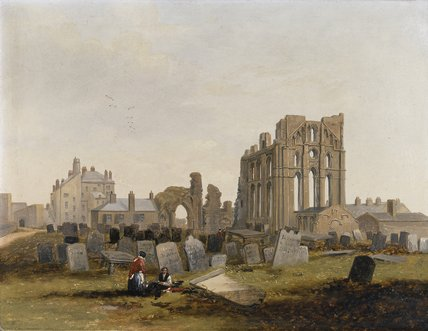 Tynemouth Priory from the East, 1845