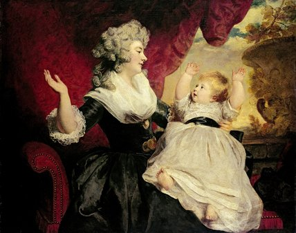 Georgiana, Duchess of Devonshire with her infant daughter Lady Georgiana Cavendish