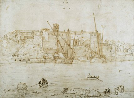 View of the Ripa Grande, Rome, c.1552
