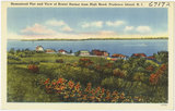 Homestead Plat and View of Bristol Harbor from High Road, Prudence Island, R.I.
