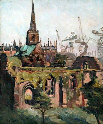 View of Birkenhead Priory, Wirral