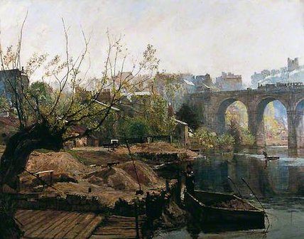 Knaresborough Viaduct with Steam Train