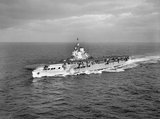HMS VICTORIOUS underway at near Scapa Flow, 28 October 1941.