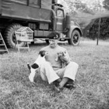 General Montgomery with his puppies