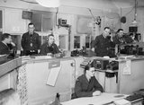 Interior of RAF Fighter Command's Sector 'G' Operations Room at Duxford, Cambridgeshire, September 1940.