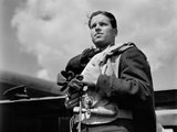 Wing Commander Guy Gibson VC, Commanding Officer of No. 617 Squadron (The Dambusters), May 1943.