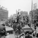 Scenes of jubilation as British troops liberate Brussels, 4 September 1944.
