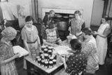 Members of the Women&#039;s Institute at a jam-making centre on the east coast of England during 1940.