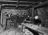 Bevin Boys' training at a colliery near Canterbury in Kent during 1944.