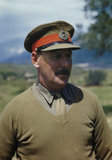 Lieutenant General Sir Oliver Leese, commander of the British Eighth Army in Italy, 30 April 1944.