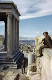 British soldiers visit the Acropolis in Athens, October 1944.