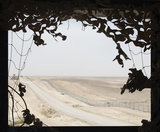 Camp Bastion, view of parameter fence, Afghanistan,  2013.