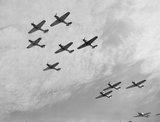 Nine Hawker Hurricanes of 85 Squadron