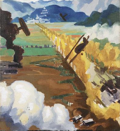 Sopwith Camel Patrol Attacking an Austrian Aerodrome near Sacile, Italy
