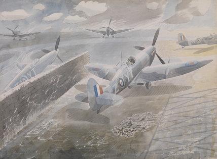 Spitfires at Sawbridgeworth, Herts