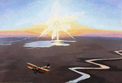 Flying Over the Desert at Sunset, Mesopotamia, 1919