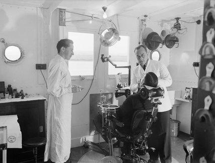 Dental Surgery on board HM Hospital Ship AMARAPOORA at Scapa Flow, 11 September 1942.