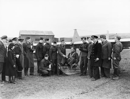 Air cadets learn the basics of flight at RNAS St Merryn in Cornwall, February 1944.