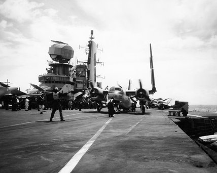 Operations aboard HMS HERMES during a NATO exercise in the Atlantic, August 1962.