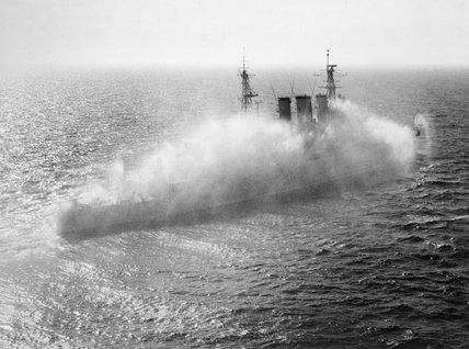 HMS CUMBERLAND initiates her